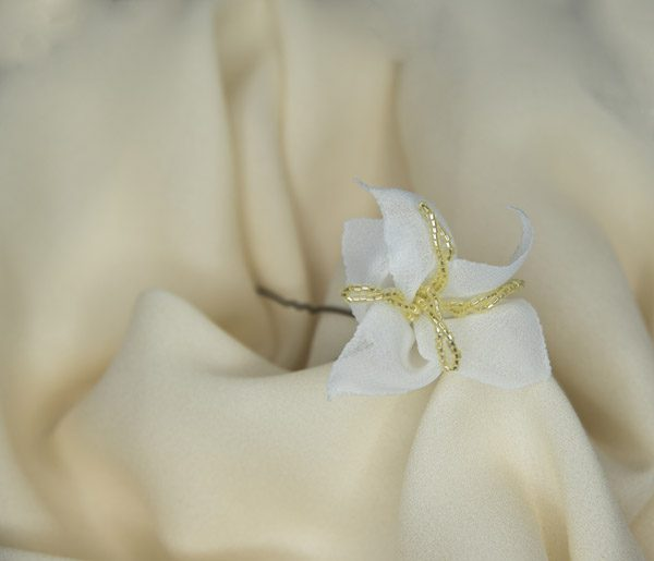 Spilla Agnese Lily Hair Accessories Bianca