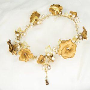 Cerchietto Frida - Accessori sposa dorato