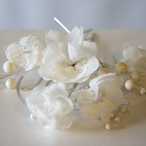 3 Spille per capelli Ivory -Accessori sposa - Lily