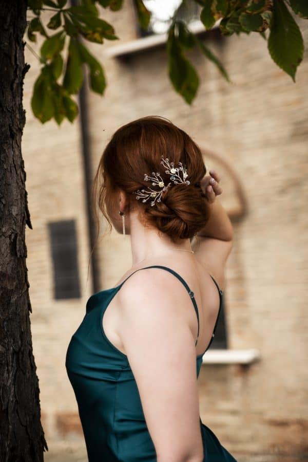 2 spille per capelli sposa